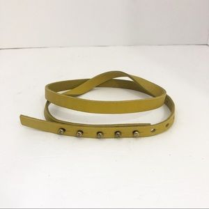 J.Crew | Thin Mustard Leather Belt